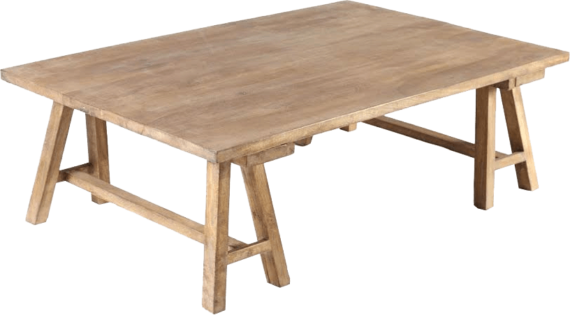 Table basse industrielle bois antiqua the socialite family - Grande table basse en bois ...