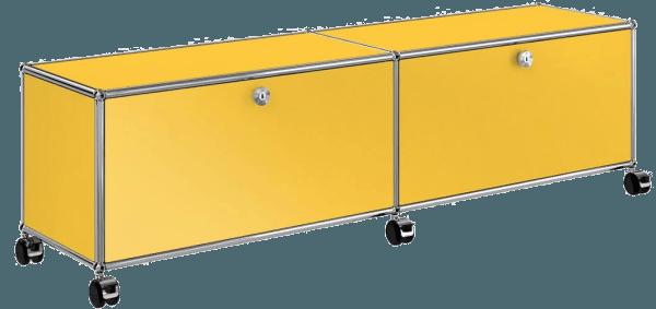 Usm haller tv stand the socialite family for Meuble bureau jaune
