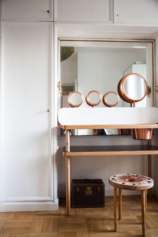 Miroirs Salle de Bains Appartement Déco Cristina Celestino Milan