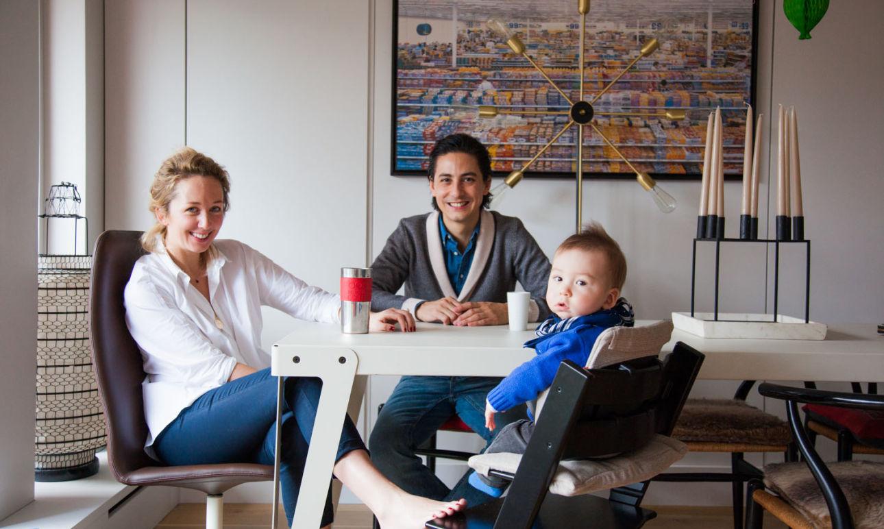 Samantha Hauvette and Swan, Achille 10 months