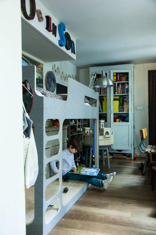 Chambre d'enfant Cabane Robinson Fils Georg Hallensleben et Anne Gutman Appartement Paris