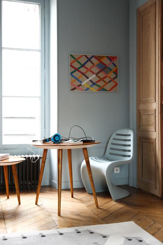 Table Gio Ponti et chaise salon Margherita Ratti