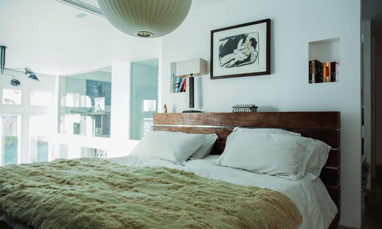 La chambre d'Ingrid Seynhaeve créatrice de la marque June 7.2
