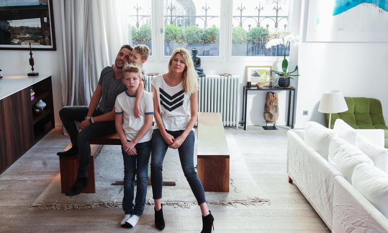 Ingrid Seynhaeve et Jean-Baptiste Iera,<br> Lukas 11 ans, Hayden Kaye 6 ans