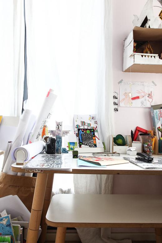 Le bureau de Nadine Richter, toujours regorgeant d'idées
