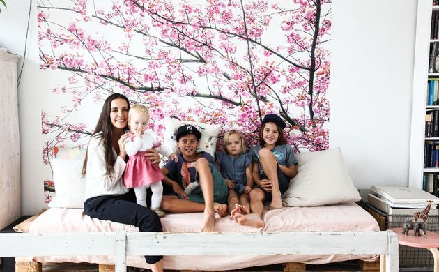 Nadine Richter et<br> Lio 11 ans, Nono 9 ans, Lilou 6 ans, Nell 2 ans