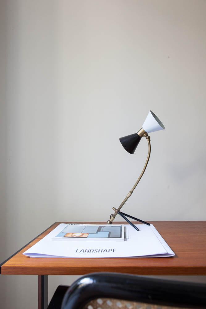 Luminaire Noir Blanc Vintage Paolo Casati