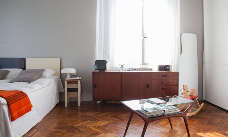 Chambre Vintage Bois Design Italien Paolo Casati Milan