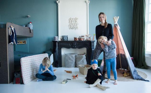 Sanne Hop et Ole 8 ans, Hannes 5 ans, Pippa 3 ans, Kaatje 6 mois