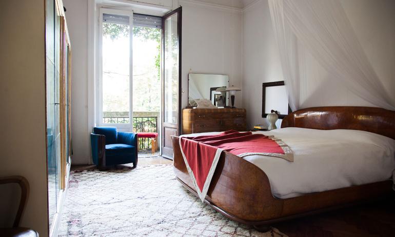 Chambre Vintage Linge de lit Stefano Vitali Milan