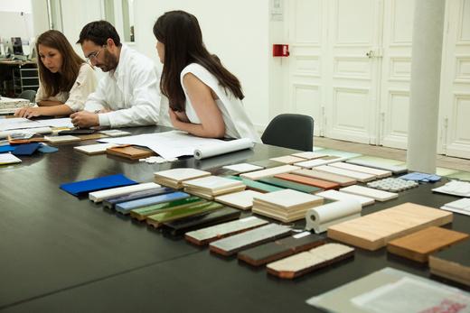 Plan de Travail Bureau Rue D'Uzès Paris Franklin Azzi Architecte