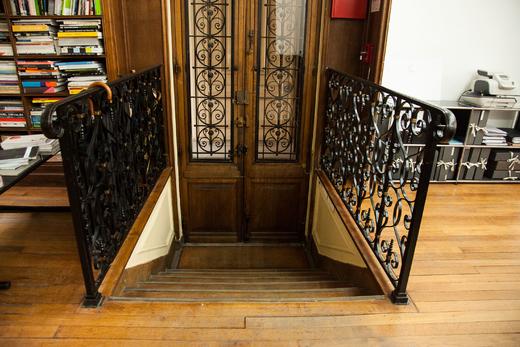 Entrée Bureau Rue D'Uzès Paris Franklin Azzi Architecte