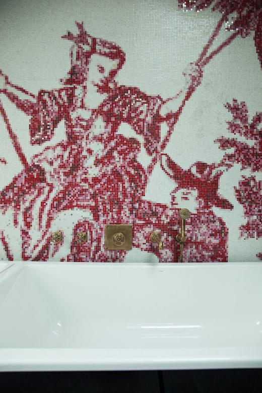 Détail de mosaïque chez Laura Gauthier