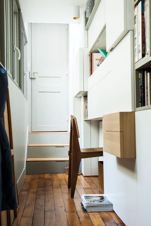 Bureau Bibliothèque Appartement Paris Charlotte Vauvillier et Jean Baptiste Bouvier