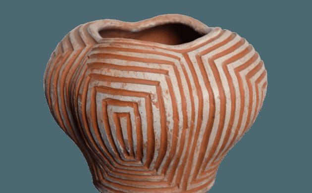 Vase céramique design brésilien
