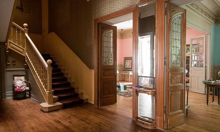 Couloirs Escaliers Bois Ancien Villa Atlantida