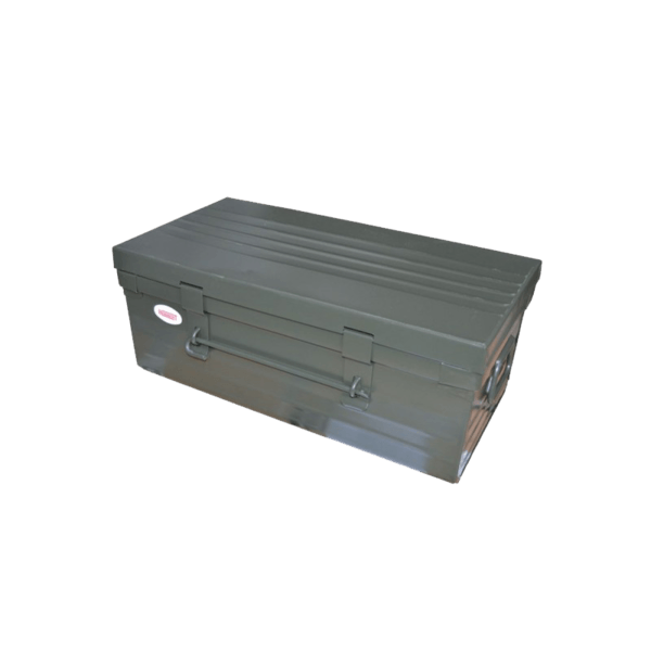 army metal trunk the socialite family. Black Bedroom Furniture Sets. Home Design Ideas