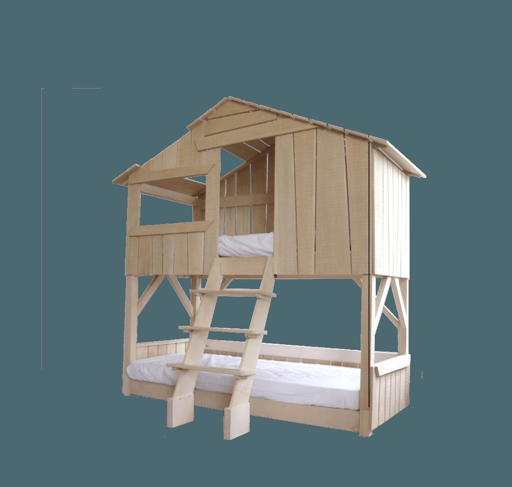 interesting solid wood hut bed with lit cabane maison du monde
