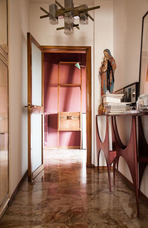 Couloir Appartement Architecte Décorateur Hannes Peer Milan