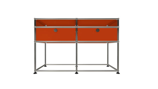 Orange usm console the socialite family for Meuble orange