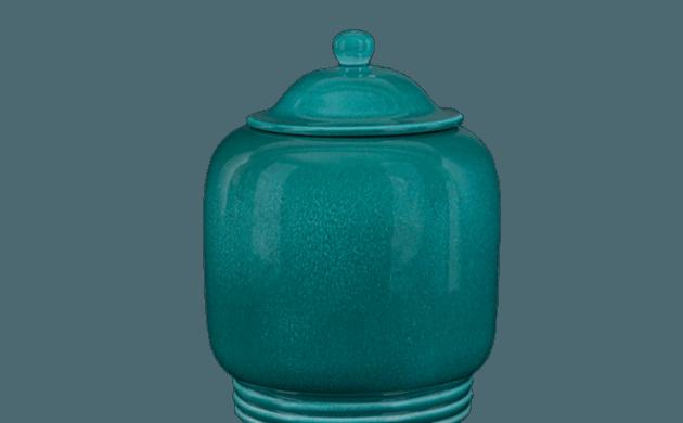 Pot en céramique turquoise