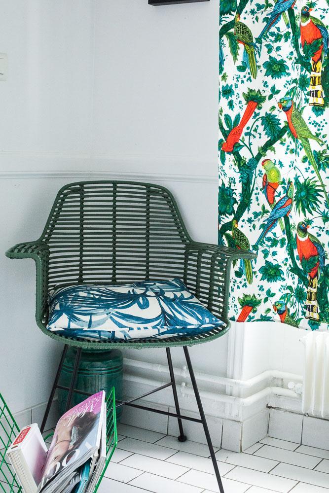 Salle de Bain Déco Coloré Imprimé Appartement Aroussia Chamak et Henrik Jessen