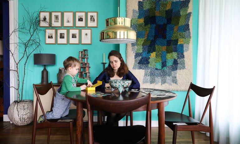 Bleu et vert : l'association <br> colorée de l'hiver