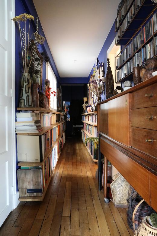 Couloir Livres Enfilade Vintage Appartement Créateur Galerie Stimmung Augustin David