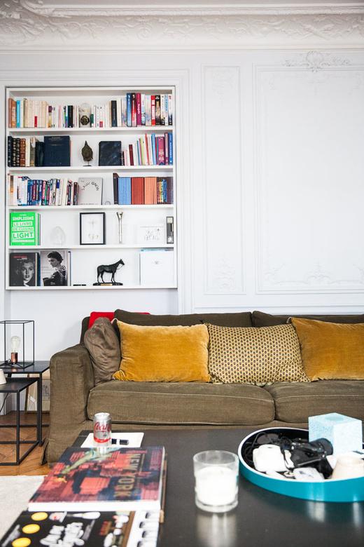 Salon Canapé Coussins Appartement India Weber