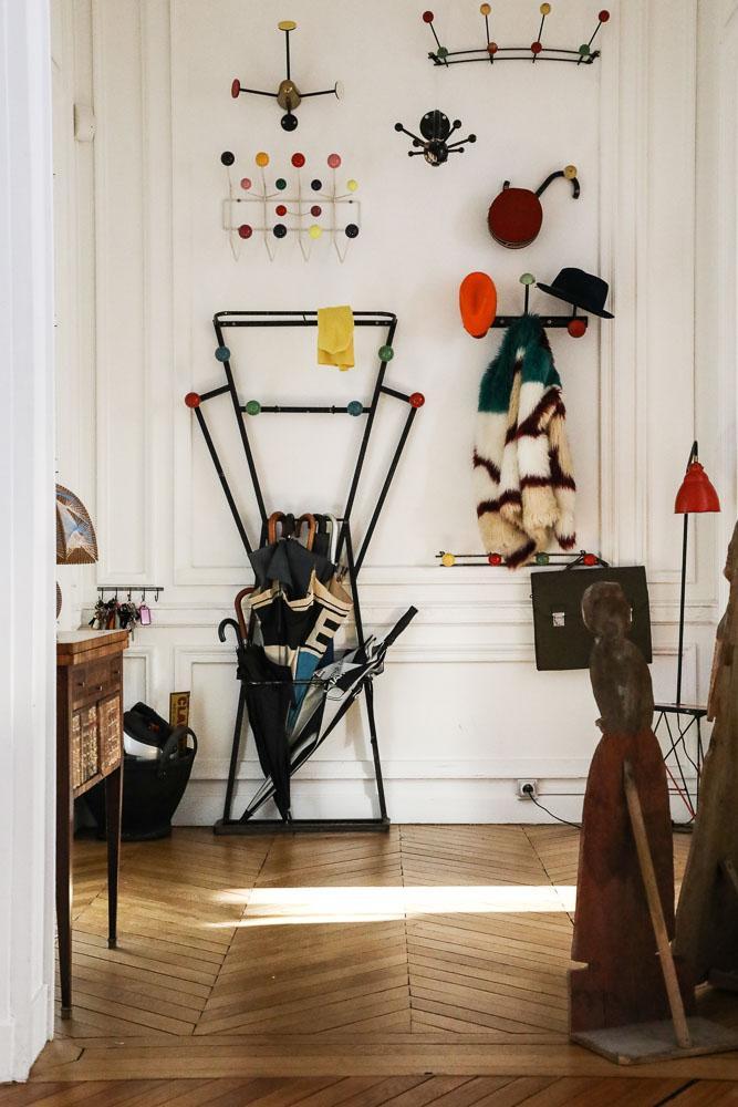 Porte Manteaux Accumulation Appartement Entrée Paris Alexandra Senes