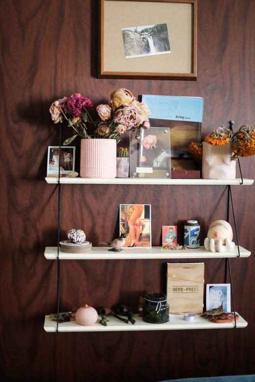 Etagére Salon Appartement Amélie Pichard Rue de Lappe
