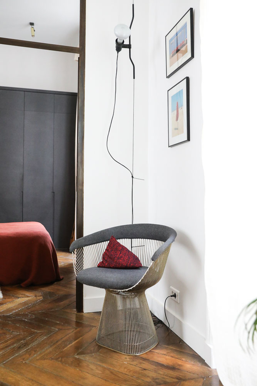 Fauteuil Warren Platner Salon Art Photographie Applique Lumineuse Appartement Stéphanie Lizée