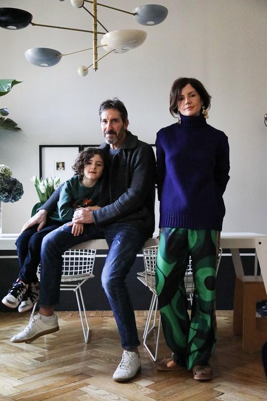 Portrait famille Barbara Ghidoni Renato Corazzo Ludovico Appartement Milan