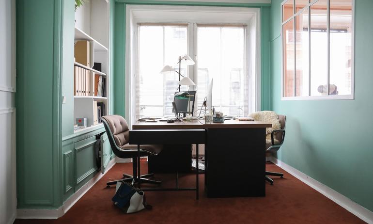Bureaux Double Moquette Saint Maclou Peinture verte Ressource Bureaux Bensimon The Socialite Family