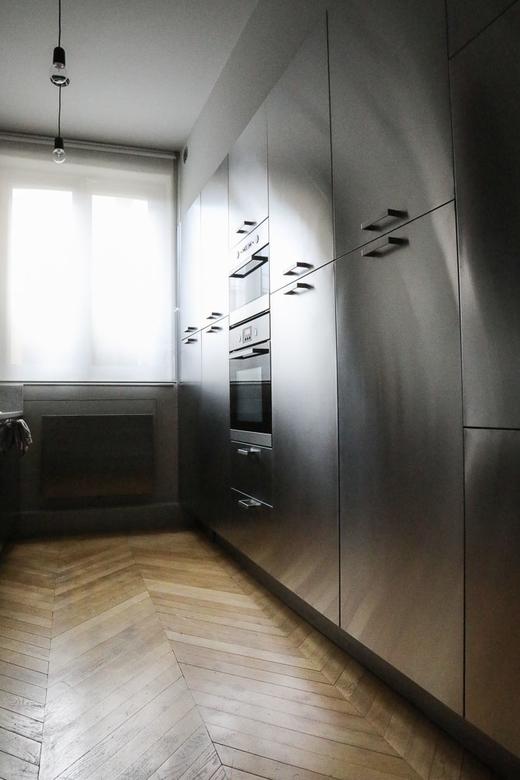 Cuisine Inox Ikea Appartement Haussmannien ParisMarianne Fersing