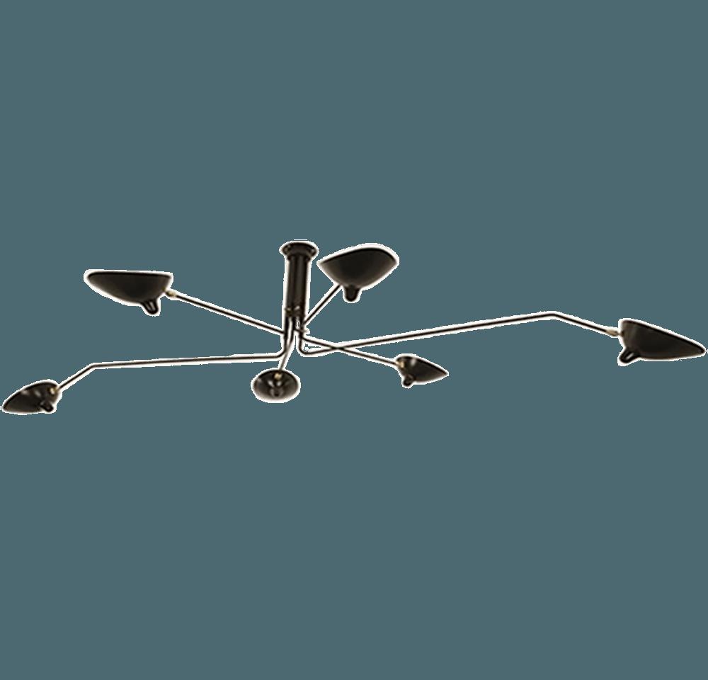 6 arm ceiling light serge mouille the socialite family arubaitofo Choice Image