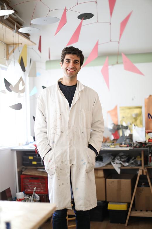 Portrait Alex Palenski Atelier Mobile Appartement Alex Palenski et Flora Mitjavile