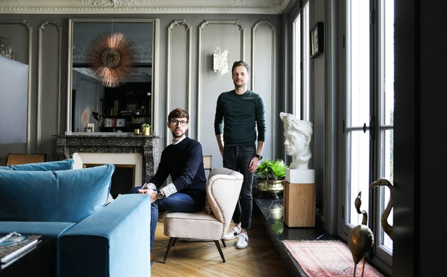 Portrait David Chaplain et Alexandre Roussard Appartement Paris