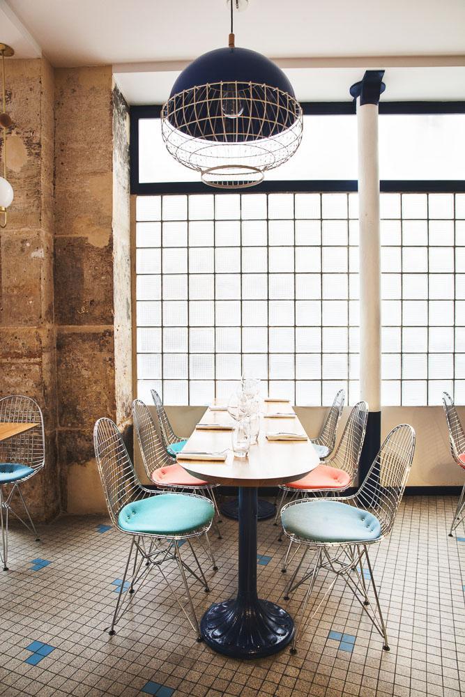 Salle restaurant Fichon Cave à poisson Paris