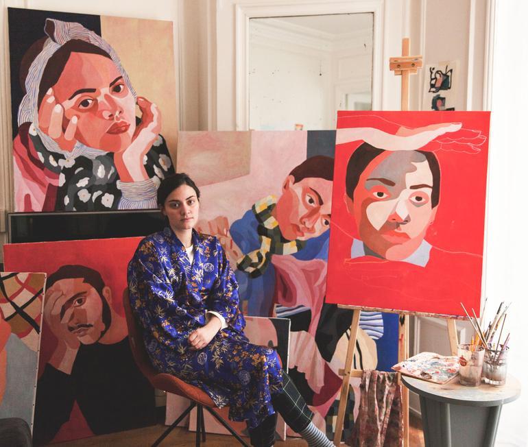 Inès Longevial, a Sensitive Painter