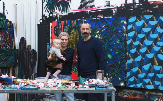 Julien Colombier and Audrey Guimard, Paola 10 months old