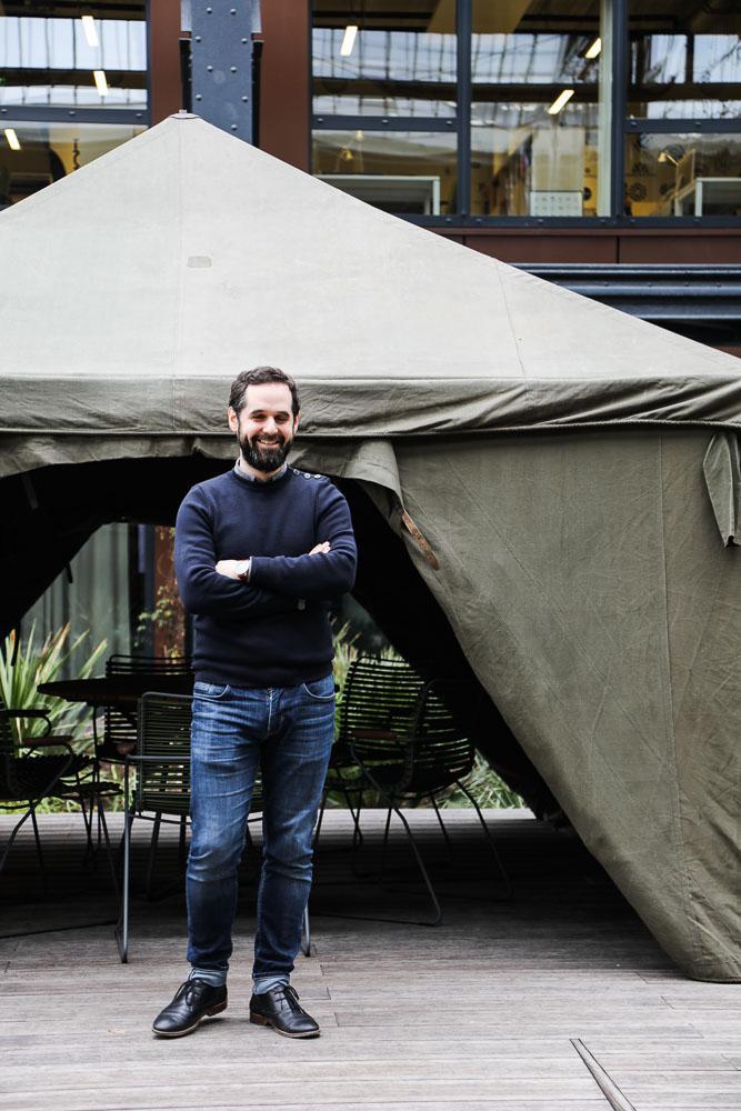 Jean-Philippe Cordina Portrait Chef de projet Architecte Agence Saguez and Partners Saint Ouen