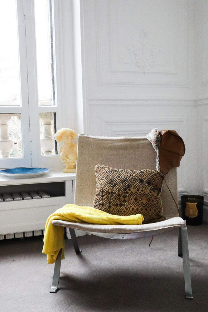 Chaise PK22 Poul Kjaerholm Coulisses vente NOW Sotheby's Hôtel particulier Paris