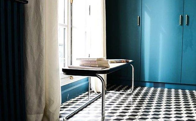 Canapé Nonna en Velours Bleu Pastel