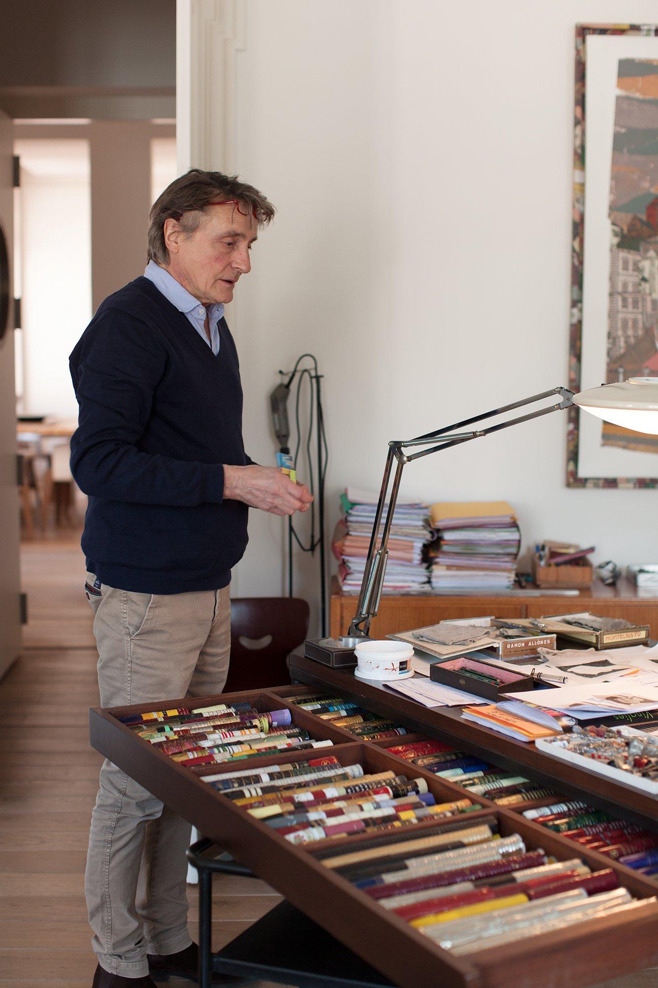 Portrait Gérard Puvis Atelier Lyon