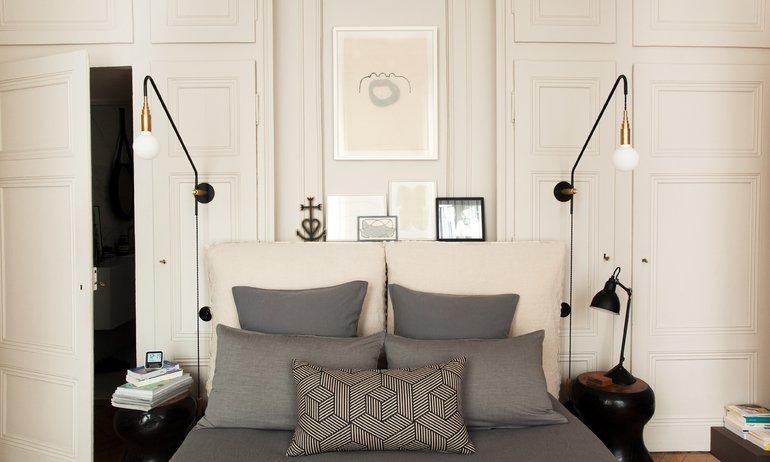 Chambre Maison Hand Linge de lit gros Luminaires Pierre Emmanuel Martin et Stéphane Garotin Lyon
