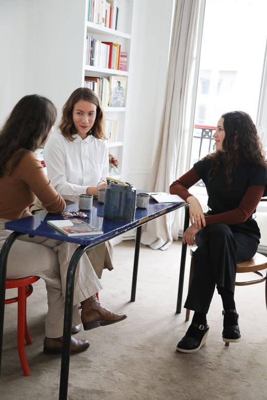 Portrait The Skirt Chronicles Haydée Touitou Sofia Nebiolo et Sarah de Mavaleix Appartement Paris