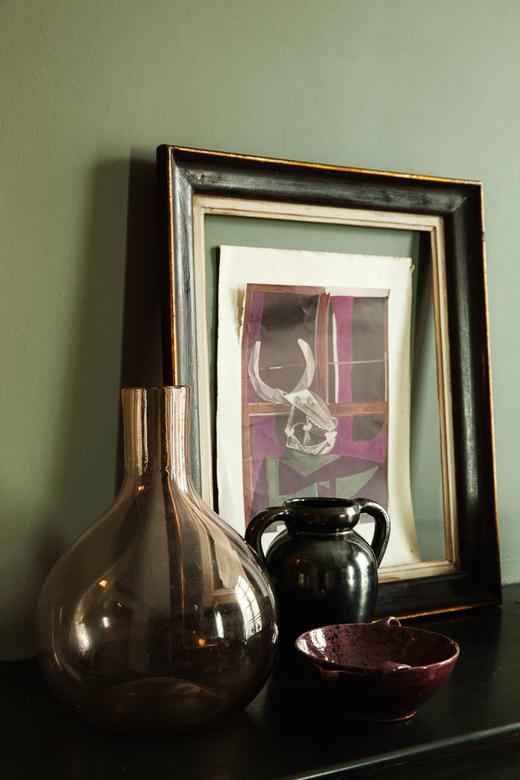 Cadre et vases Salon Appartement Victor Cadene Décorateur Lyon