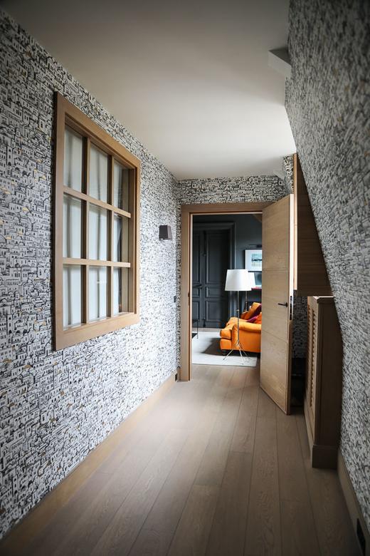 Couloirs Papier-peint Fornasetti Mediterranea Directrice Générale Molli Charlotte de Fayet Paris