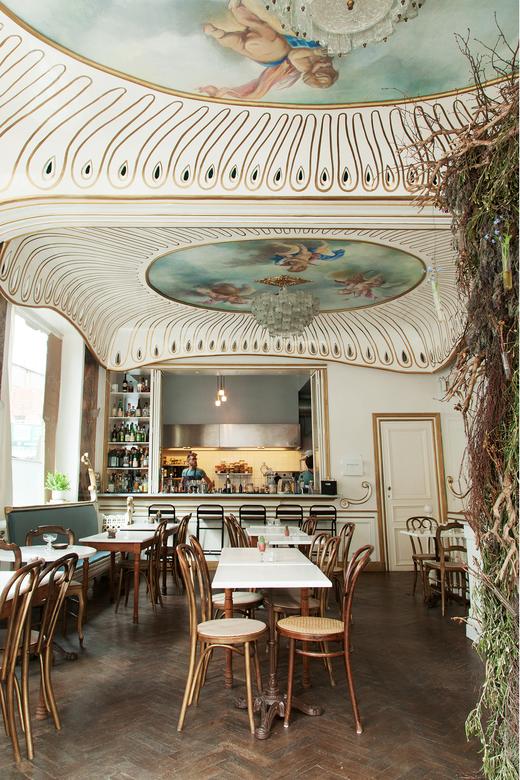 Salle principale restaurant Nicolas Decloedt Hortense and Humus Bruxelles